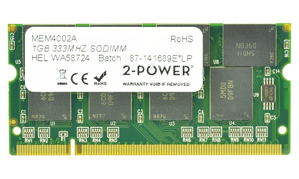 Satellite M40X-107 1GB PC2700 333MHz SODIMM